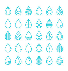 set drop water stock vector image