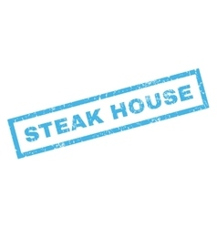 Steak House Rubber Stamp vector