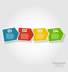 step by step infographic design with numbers vector image