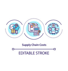 supply chain costs concept icon vector image