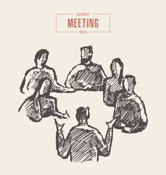 team working new project business meeting vector image