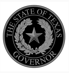 texas state governor seal vector image