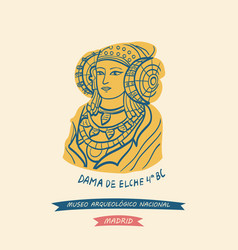 The lady of elche as symbol of the national vector