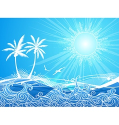 Tropical blue background vector image