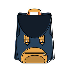 vintage backpack isolated vector image