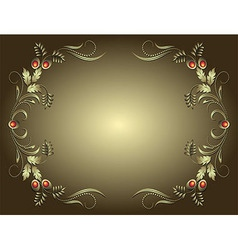Vintage Frame With Floral Antique Frame On vector image