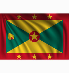 Waving grenada vector