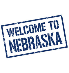 Welcome to nebraska stamp vector