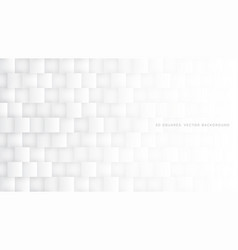 White 3d squares light abstract background vector