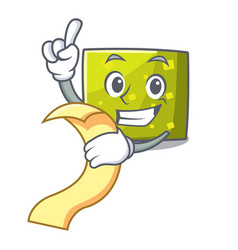 with menu square mascot cartoon style vector image