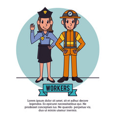 workers infographic cartoon vector image