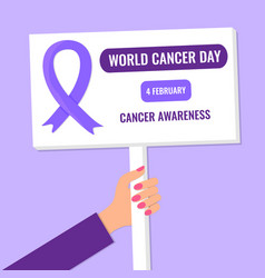 World cancer day banner or poster vector