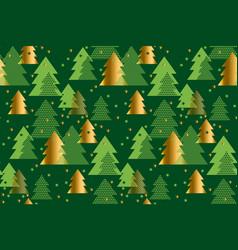 xmas tree seamless pattern vector image