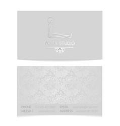 Yoga business card vector