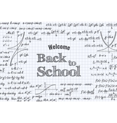 Back to School education background vector image vector image