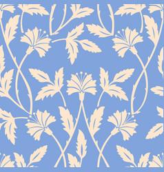 Flower seamless pattern element vector