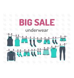 sale set underwear vector image vector image