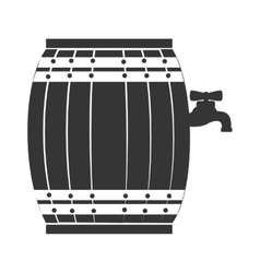 Wine wooden barrel vector image
