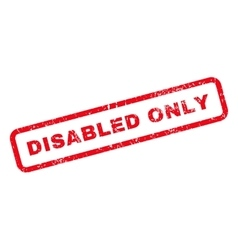 Disabled only text rubber stamp vector