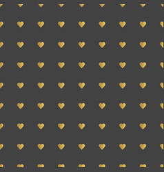 gold hearts pattern vector image