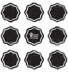 Grunge abstract textured badges vector image vector image