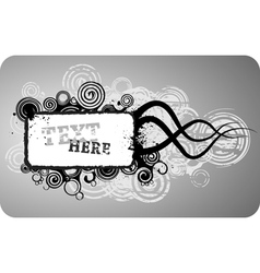 grunge text frame vector image vector image