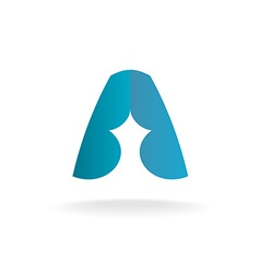 Letter A logo template vector image vector image