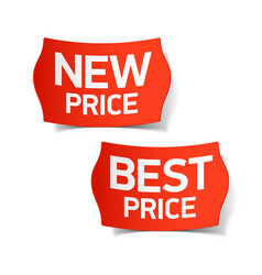 New and Best Price labels vector image vector image