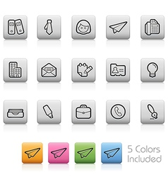 Office and Business Buttons vector image vector image