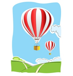 parachute on air vector image vector image