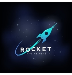 Rocket Space Ship Abstract Sign Icon or vector image