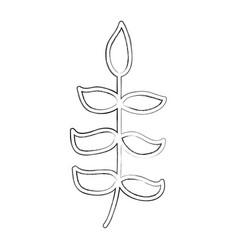 sketch draw bush cartoon vector image