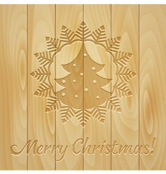 Board with Christmas drawing vector image