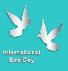 international bird day dove vector image