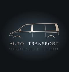 modern minivan silhouette vector image vector image
