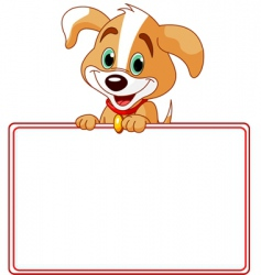 puppy place card vector image