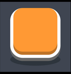 3d flat blank square web internet button vector