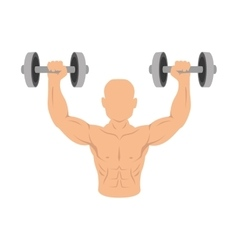 boxer silhouette avatar with weight lifting icon vector image