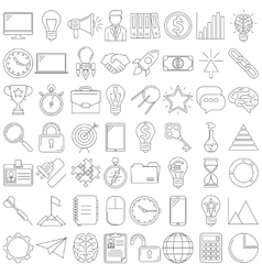 busines icons line vector image
