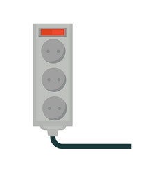Empty socket with red button isolated on white vector