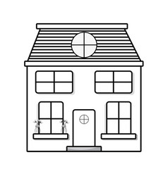 line house with two floor to have a good home vector image vector image