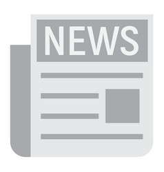 news flat icon newspaper and website vector image