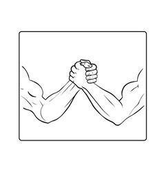 powerful handshake vector image vector image