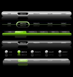 website navigation templates on black vector image