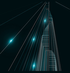 abstract city landscape background vector image