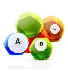 Abstract geometrical hexagon banner vector