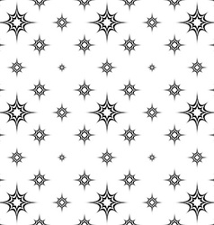 Abstract seamless monochrome star pattern vector image