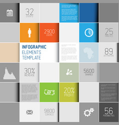 Abstract squares background infographic template vector