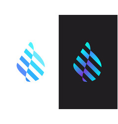 Abstract water aqua logo design water drop moving vector