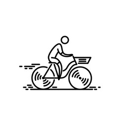 Bicycle bike icon cycling thin line icon vector